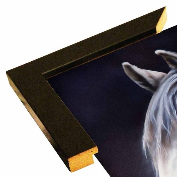 """White Arabian Stallion-JENNEW126552 Print 18""""x12"""" by Jenny Newland"""