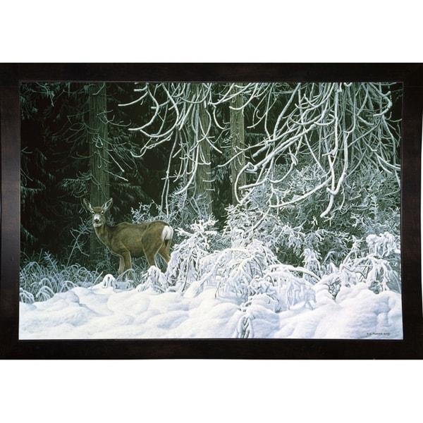"""Snow Palace - Mule Deer-RONPAR10516 Print 11""""x16.25"""" by Ron Parker"""
