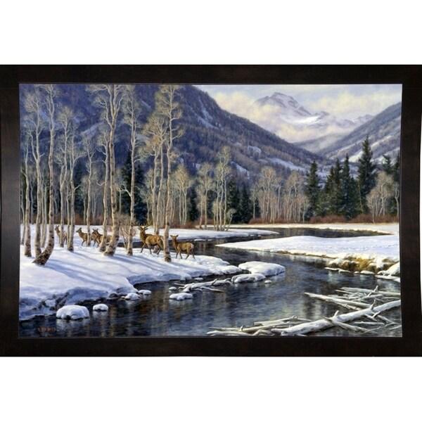 """Along The Blackfoot-RANVAN64763 Print 24""""x36"""" by Randy Van Beek"""