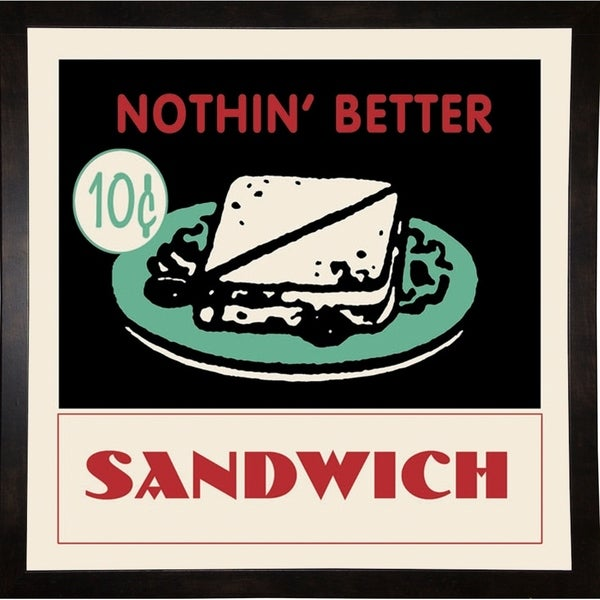 "Sandwich-RETSER90399 Print 26.75""x26.75"" by Retro Series"
