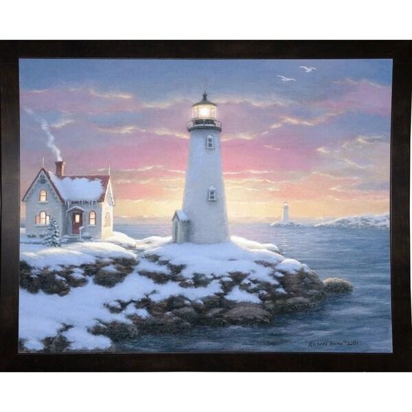 "Harbor Lights-RICBUR34675 Print 23.25""x29"" by Richard Burns"