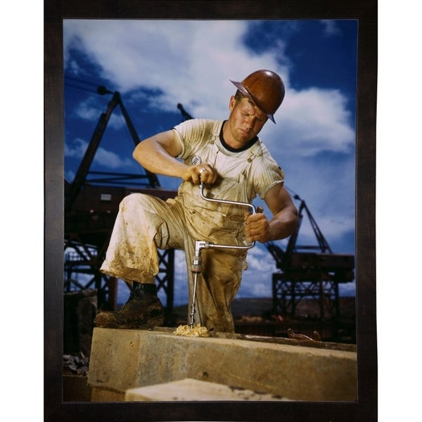 """Carpenter at Work on Douglas Dam, Tennessee-PRIPUB131129 Print 27.75""""x21.25"""" by Print Collection"""