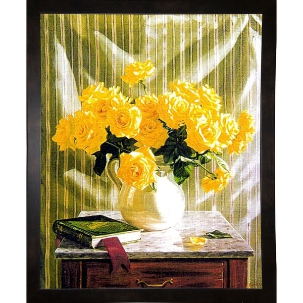 "Yellow Roses-ROBAND11513 Print 17.25""x13.75"" by Robin Anderson"