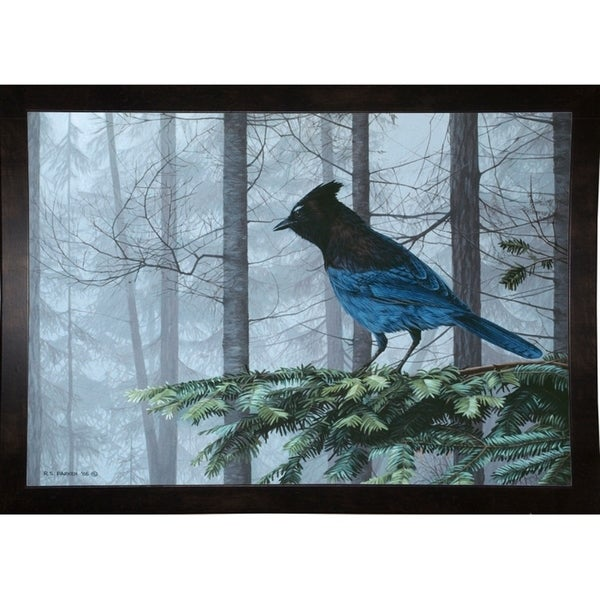 """Stellers Jay In Fog-RONPAR10349 Print 22""""x31.75"""" by Ron Parker"""