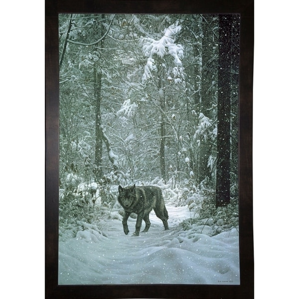 "Winter Encounter - Wolf-RONPAR10360 Print 35.75""x24"" by Ron Parker"