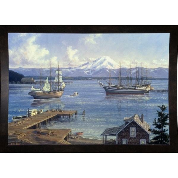 """Eagle Harbor-RANVAN17606 Print 19.5""""x28"""" by Randy Van Beek"""