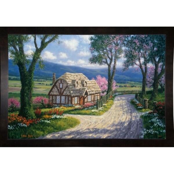 """Country Cottage-RANVAN21536 Print 23""""x34.5"""" by Randy Van Beek"""