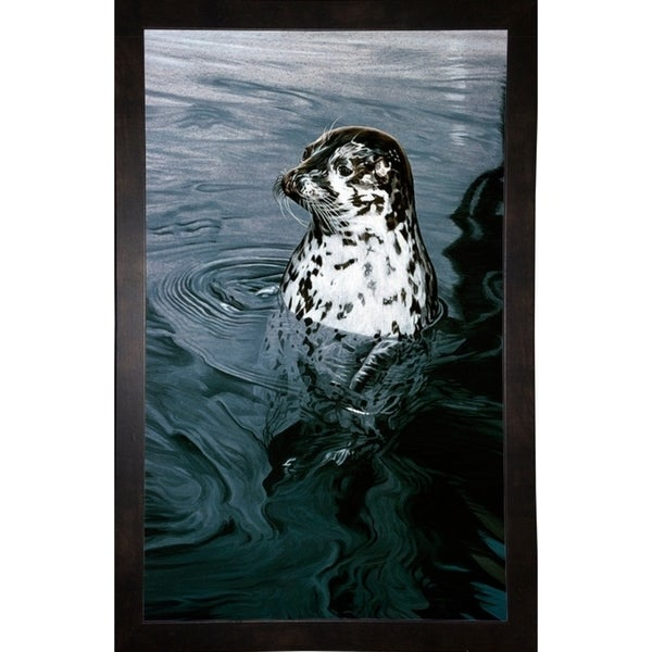 "Harbor Seal-RONPAR10373 Print 36""x22.25"" by Ron Parker"