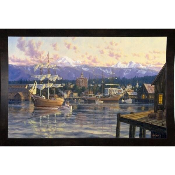"""Bellingham Harbor-RANVAN21533 Print 27.75""""x43"""" by Randy Van Beek"""