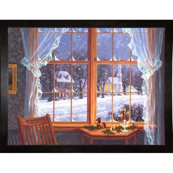 """Winter Windows-RANVAN5590 Print 22.25""""x29.5"""" by Randy Van Beek"""