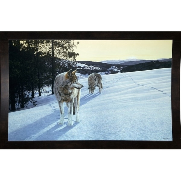 "At End Of Day- Wolves-RONPAR10496 Print 28""x45"" by Ron Parker"