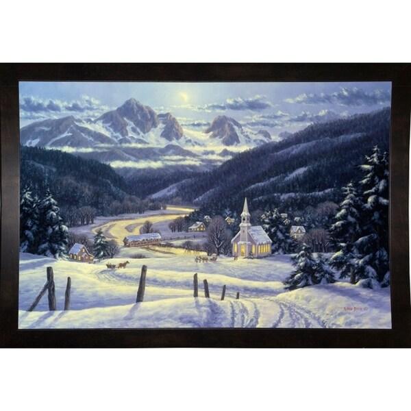 """Mountain Village In Winter-RANVAN5568 Print 15.75""""x23.5"""" by Randy Van Beek"""