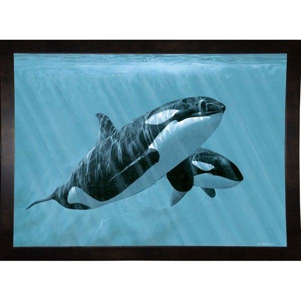 "Mother And Son- Orcas-RONPAR10511 Print 22.25""x31"" by Ron Parker"