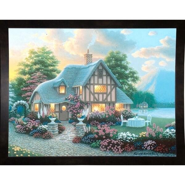 "Lakeside Cottage-RICBUR50468 Print 21.5""x28"" by Richard Burns"