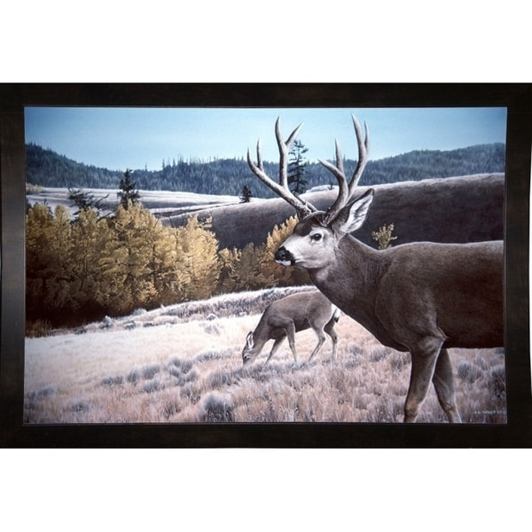 "Mule Deer In Aspen-RONPAR10554 Print 23.75""x36"" by Ron Parker"