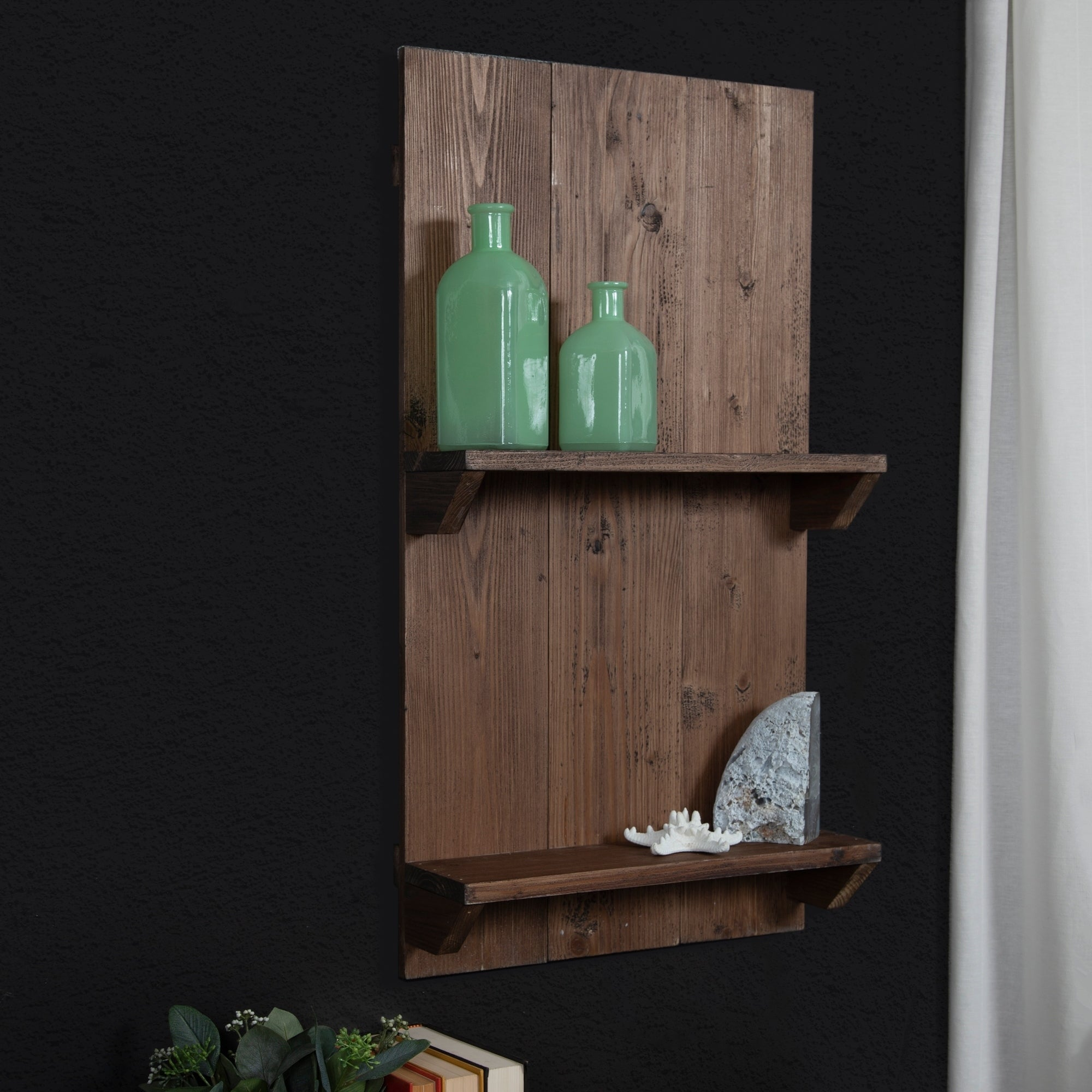 Shop Gallery Solutions Rustic Wood Pallet Wall Shelf Overstock 24214416