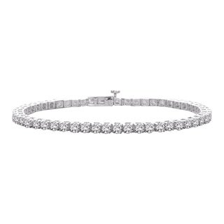 10K White Gold 1ct TDW Diamond Tennis Bracelet (J-K, SI)