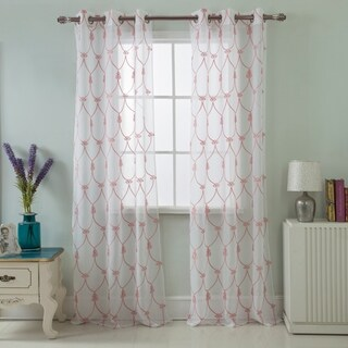 Westgate Embroidered 76 x 84 in. Grommet Curtain Panel Pair (Set of 2)