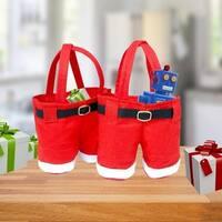 Santa Pants Gift Bag or Stocking - set of 2