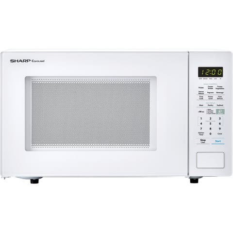 Sharp Carousel 1.4 Cu. Ft. 1000W Countertop Microwave Oven in White (ISTA 6 Packaging)