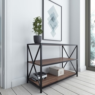 Carbon Loft Joxer 37-inch Metal Industrial Media Console Bookshelf
