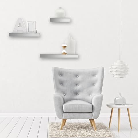 Gallery Solutions Mirrored Floating Shelf Ledge Set