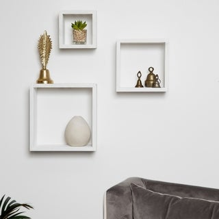 Link to Gallery Solutions Distressed 3 Piece Floating Wall Cube Shelves Similar Items in Accent Pieces