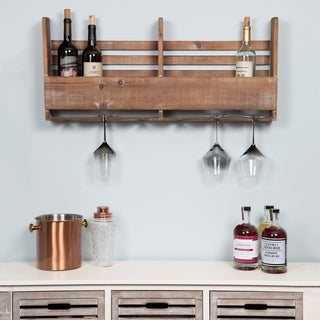 Gallery Solutions Reclaimed Wood Pallet Wine Rack