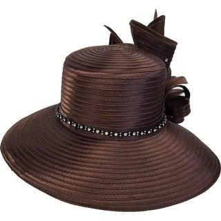 Women's Derby Church Dress Satin Ribbon Tea Party Wedding Hat