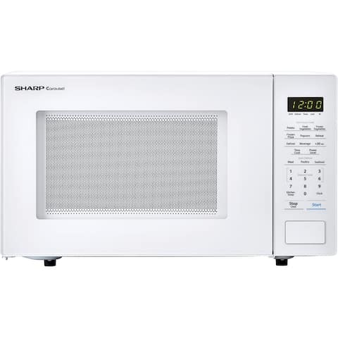 Sharp Carousel 1.1 Cu. Ft. 1000W Countertop Microwave Oven in White (ISTA 6 Packaging)