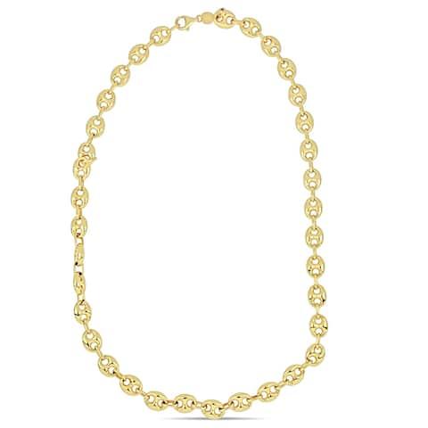 Miadora 18k Yellow Gold Mariner Link Necklace