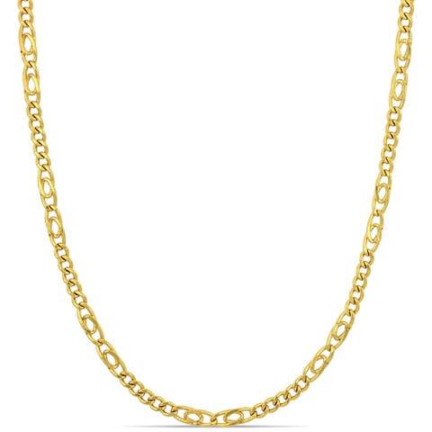 Miadora 18k Yellow Gold Figaro Link Necklace