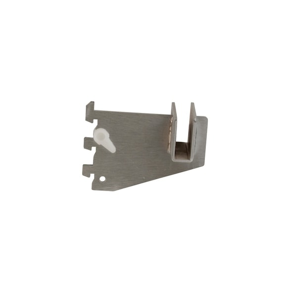 """Econoco - CR3-SC - 3"""" Satin Chrome Bracket for Rectangular Tubing For Universal Line Slotted Standards Sold in Pack of 25"""