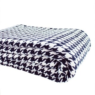 Everyday Blanket Collect Yarn Dyed Houndstooth Cotton Blanket