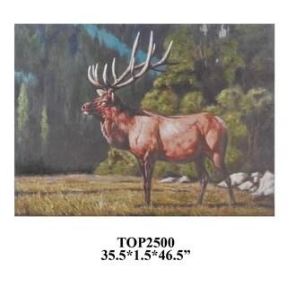 Trophy 1 Multicolor Horizontal Oil Painting - Multi-color
