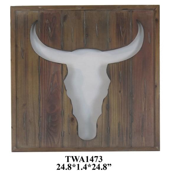 Hook Em Wooden Vertical Wooden Wall Decor - Multi-color
