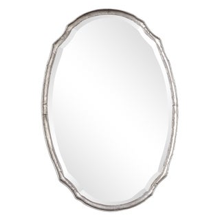 Rebecca Hammered Silver Oval Wall Mirror