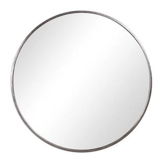 Strick & Bolton Joji Antique Silver Round Wall Mirror