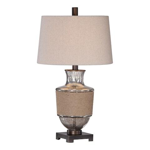 Copper Grove Vilar Mercury Glass Rope Table Lamp