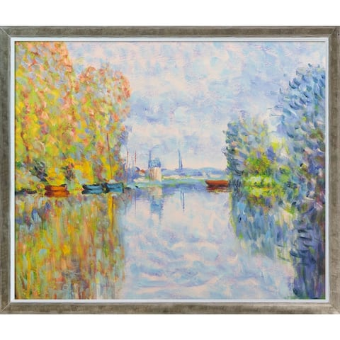 Autumn on the Seine at Argenteuil with Champagne Silhouette