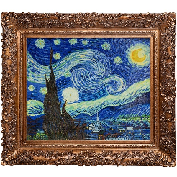 26967381716 Shop Starry Night with Burgeon Gold Frame - On Sale - Free Shipping ...
