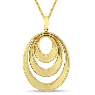 Miadora 18k Yellow Gold Multi-Circle Dangle Necklace