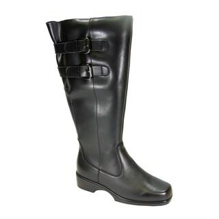 PEERAGE Hayden Women Extra Wide Width Wide Calf Leather Knee-High Boot
