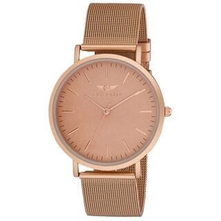 Link to Gianello GNL7722RG Rose Gold Stainless Steel Slim Case Mesh Bracelet Watch Similar Items in Men's Watches