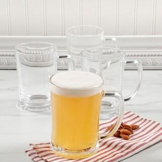 4 Pack Traditional Pub Stein Glass Beer Mug - 23Oz. Tankard Beer Mugs