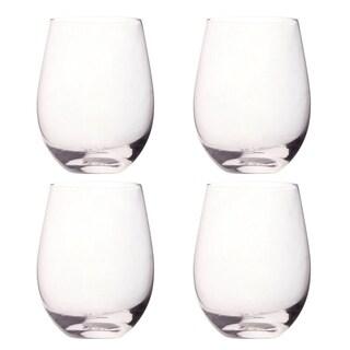 4 Pack Glass Stemless Wine Glasses - 18 Oz. Glass Stemless Glass set