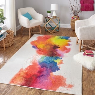 "Mohawk Home Prismatic Watercolor Area Rug - 3'9"" x 5'"