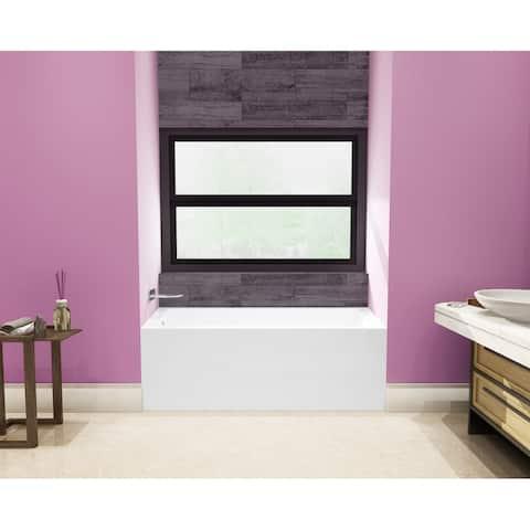 54 x 30 inches Acrylic Deep Soak Alcove Bathtub - White
