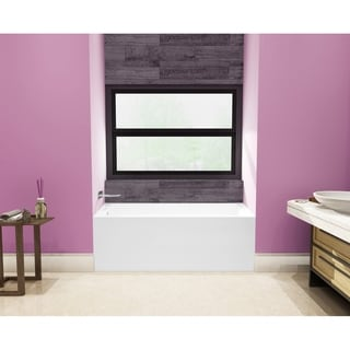 54 x 30 inches Acrylic Deep Soak Alcove Bathtub - White