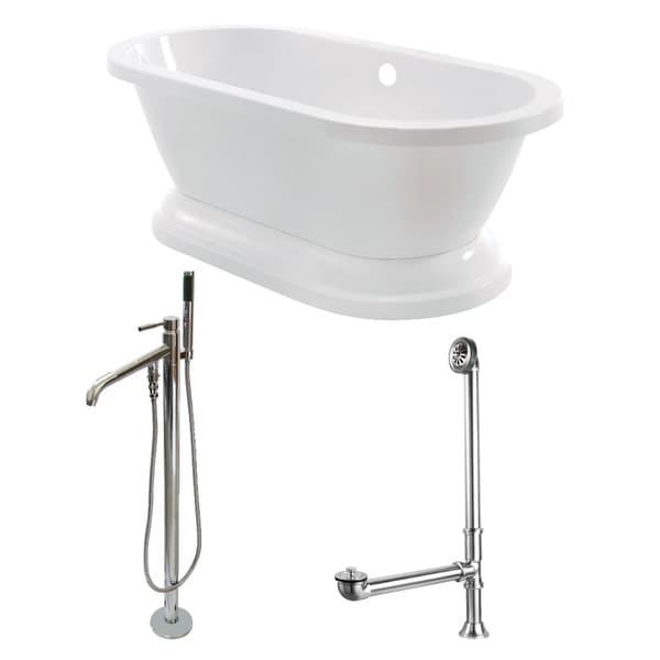 Shop Double Ended Cast Iron 72 Inch Pedestal Bathtub